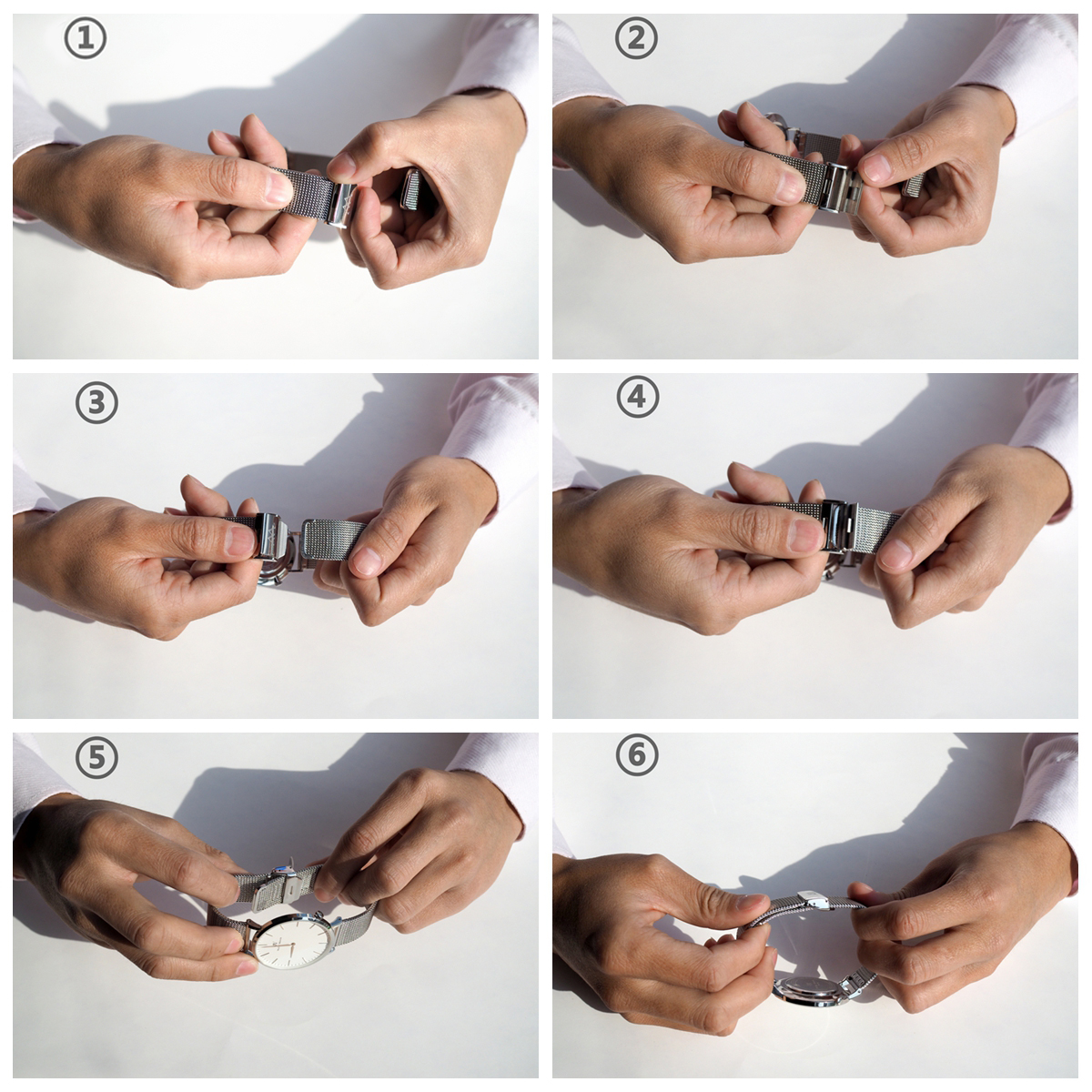 How to adjust and interchange your fashion mesh strap watch